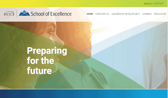 FCCI's School of Excellence training website