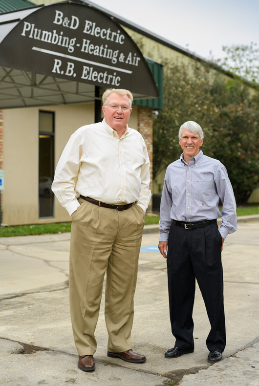 B&D Electric policyholder Robert Pendarvis and agent Cooper Hurst