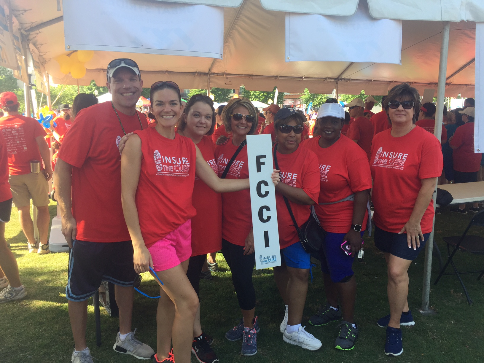 FCCI teammates walking for Cystic Fibrosis