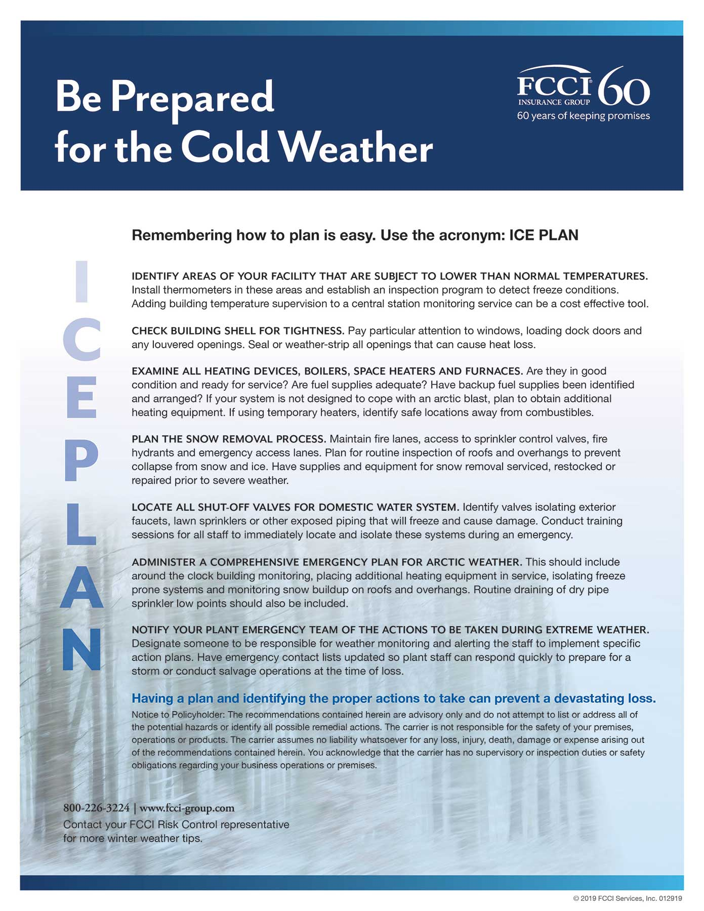 FCCI Ice Plan tips  flyer